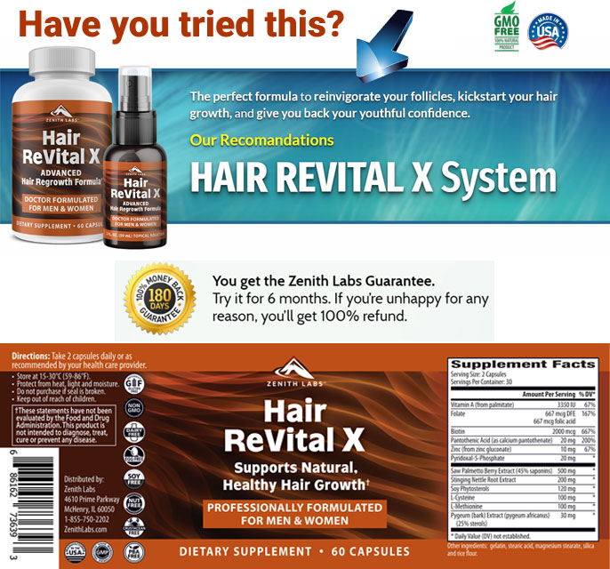 Try Hair ReVital X Risk Free