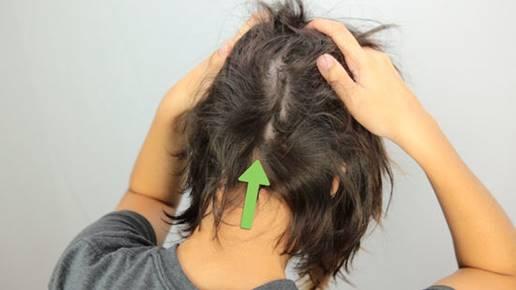 Rub your scalp too hard